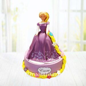 Droomtaart Disney Rapunzel taart 3