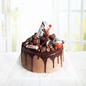 Droomtaart Drip cake Kinder chocolade