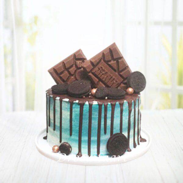 Droomtaart Drip cake candy oreo