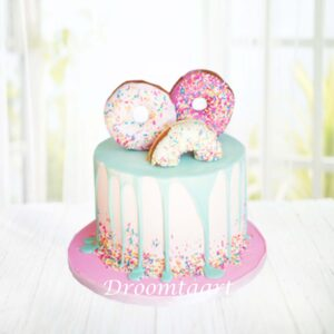 Droomtaart Drip cake donuts