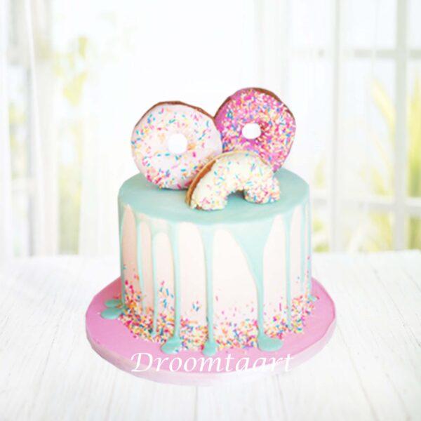 Droomtaart Drip cake donuts