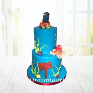 Droomtaart Finding Nemo Dory taart