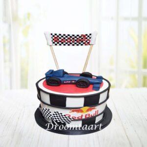Droomtaart Formule 1 taart 2 Red Bull