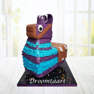 Droomtaart Fortnite lama taart 3D