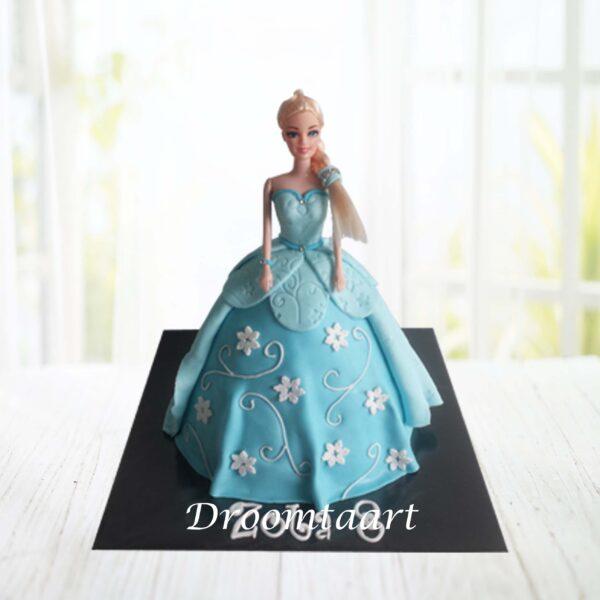Frozen Elsa barbie taart 2