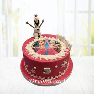 Droomtaart Frozen taart 5
