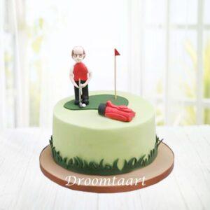Droomtaart Golf taart