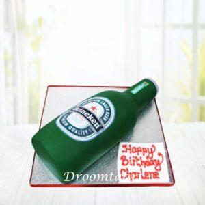 Droomtaart Heineken bierflesje