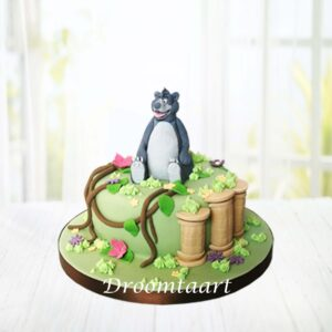 Droomtaart Jungle Book Balou taart