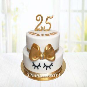 Droomtaart Leeftijd taart goud wit