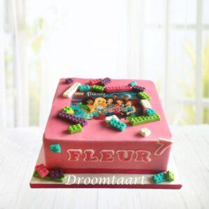 Droomtaart Lego Friends taart 1