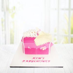 Droomtaart Luiertas taart geboorte babyshower gender reveal