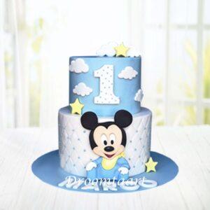 Droomtaart Mickey Mouse Baby Mickey taart 1