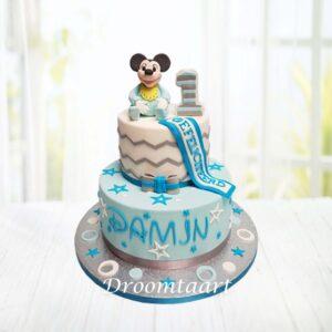 Droomtaart Mickey Mouse Baby Mickey taart 2