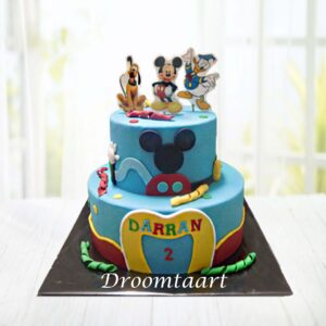 Droomtaart Mickey Mouse clubhouse taart