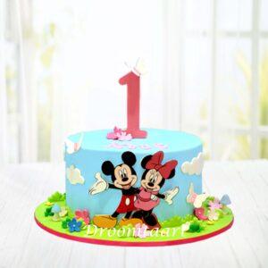 Droomtaart Mickey en Minnie Mouse taart