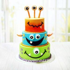 Droomtaart Monsters Inc. taart