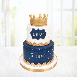 Droomtaart Prins taart met kroon