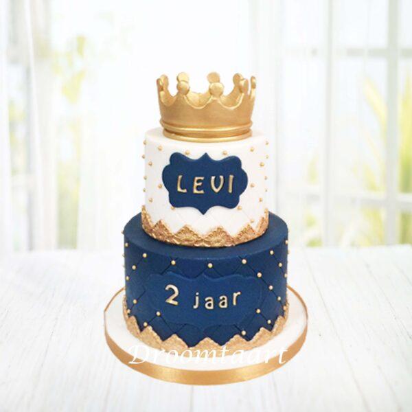 Prins taart met kroon