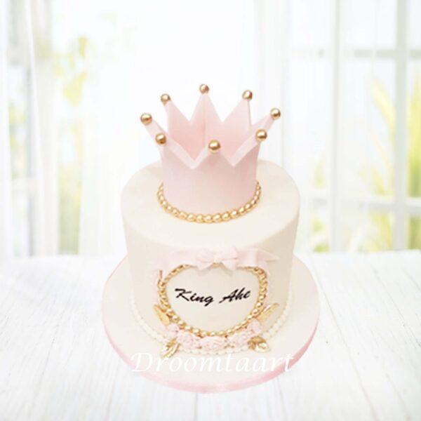 Prinses taart met kroon