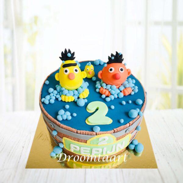 Droomtaart Sesamstraat Bert en Ernie taart
