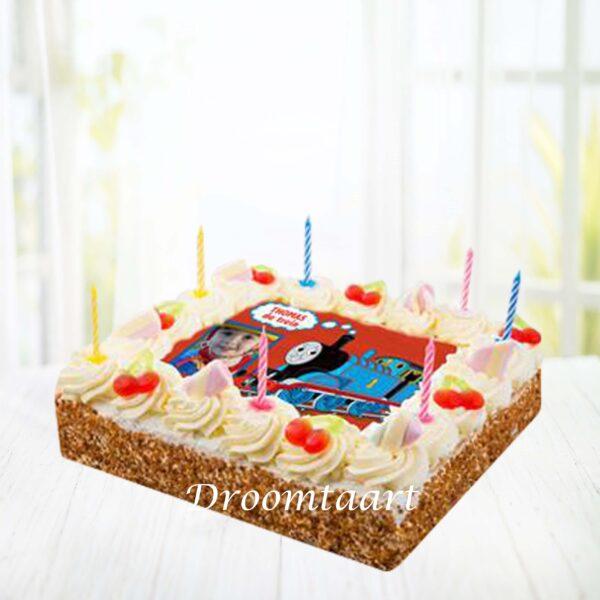 Slagroomtaart Thomas de Trein taart