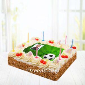 Droomtaart Slagroomtaart Voetbal