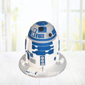 Droomtaart Star Wars R2D2 taart