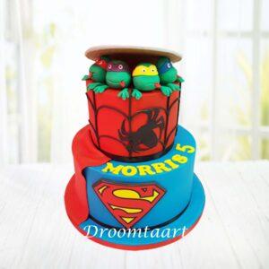 Droomtaart Superhelden taart 3