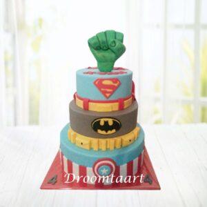 Droomtaart Superhelden taart 5