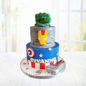 Droomtaart Superhelden taart Avengers