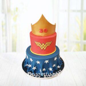 Droomtaart Superhelden taart Wonder Woman