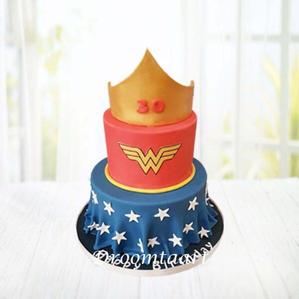 Superhelden taart Wonder Woman