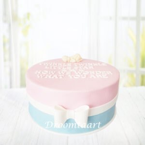 Droomtaart Taart Twinkle twinkle little star gender reveal