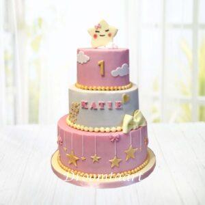 Droomtaart Twinkle twinkle little star taart