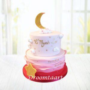 Droomtaart Twinkle twinkle taart geboorte babyshower