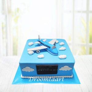 Droomtaart Vliegtuig taart KLM