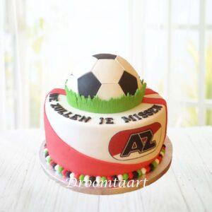 Droomtaart Voetbal AZ taart