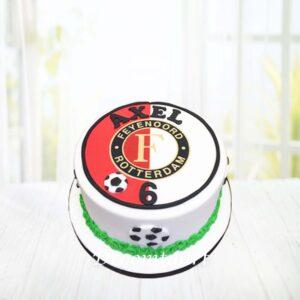 Droomtaart Voetbal taart Feyenoord