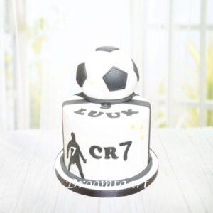 Droomtaart Voetbal taart met bal