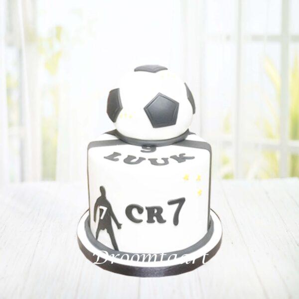 Voetbal taart met bal