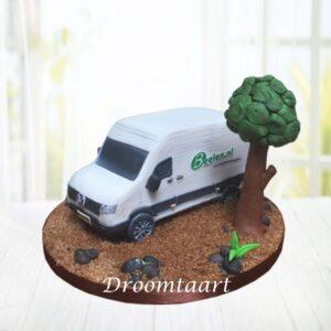 Droomtaart 3D bestelbus taart