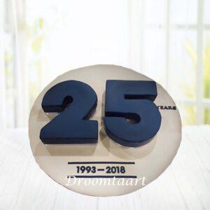 Droomtaart 3D cijfer jubileum taart
