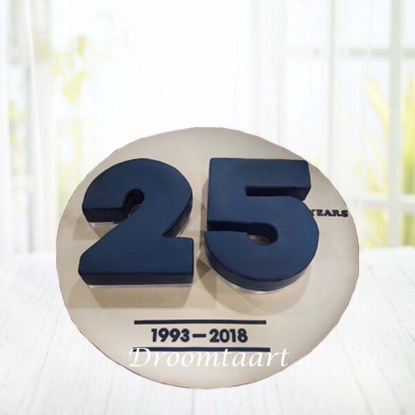 3D cijfer jubileum taart