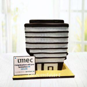 Droomtaart 3D kantoorgebouw taart