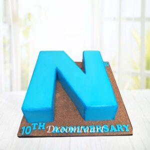 Droomtaart 3D letter logo taart
