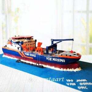 Droomtaart 3D schip taart