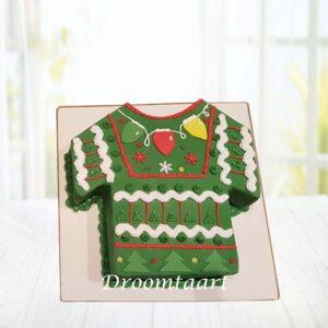 Droomtaart Kerst trui taart 1