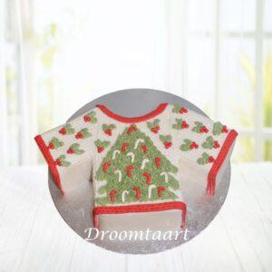 Droomtaart Kerst trui taart 2