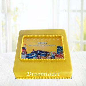 Droomtaart Logo taart 1 laag 3